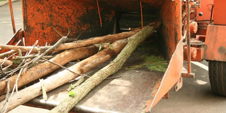 large wood chipper
